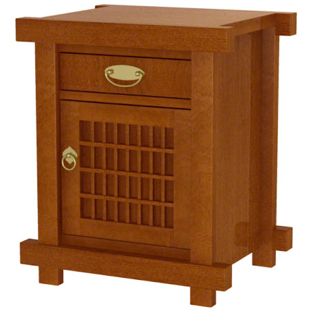 Matching Furniture Piece: Tansu Nightstand in Heritage Quarter Sawn Oak