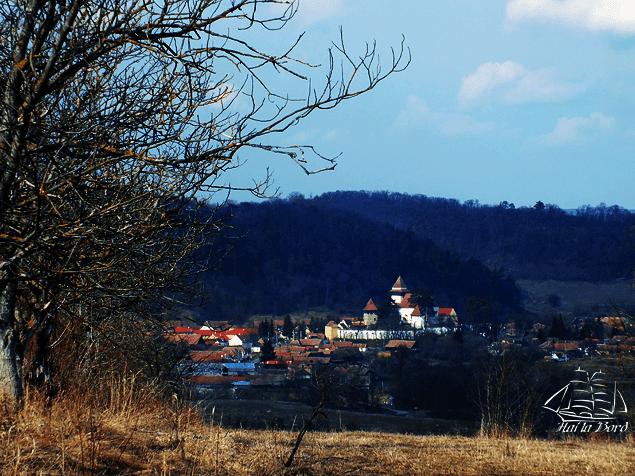 panorama biserica fortificata apold