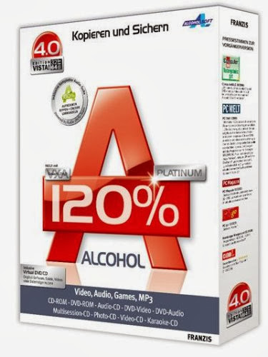Free Download Latest Version of Alcohol 120% v.2.0.2.4713 Retail Multilanguage Incl. Crack CD DVD Tools Software at alldownloads4u.com