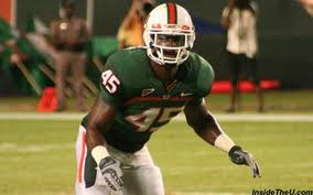 Miami linebacker Ramon Buchanan