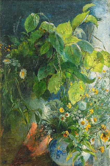 Bertha Wegmann - Stilll Life with Bunch of Wild Flowers