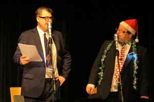 L-R John Stretton as Peter Sellers and Simon Lenthen in the role of Harry Secombe in last year's Yulefest The Goon Show LIVE!