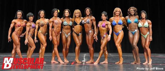 women's Physique lineup