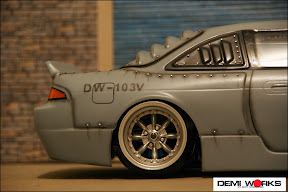 Demi works rc body accessories for 180sx window louvers