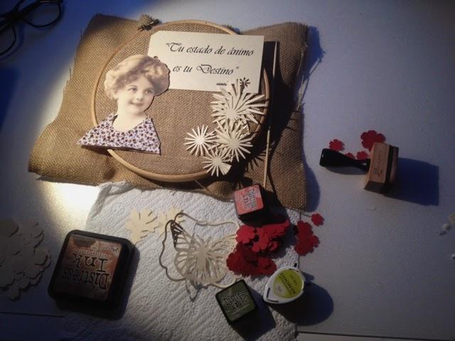 Craft craft craft bastidor decorativo - Cuadros con tela de saco ...