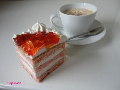 Tort serowy z galaretką