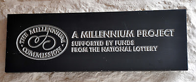 The Community Hall refurbishment funding plaque in the Foyer