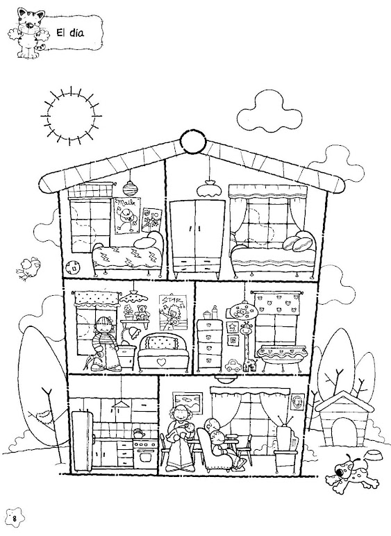 home furniture coloring pages - photo#14