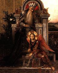 moreau, king, david, 1878, angel, old man, evening, peace, acceptance, story