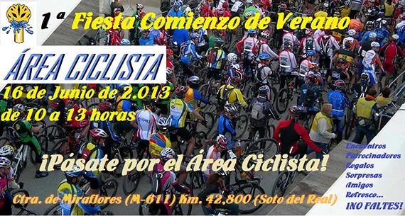 Fiesta comienzo de verano en el Área Ciclista de Soto del Real