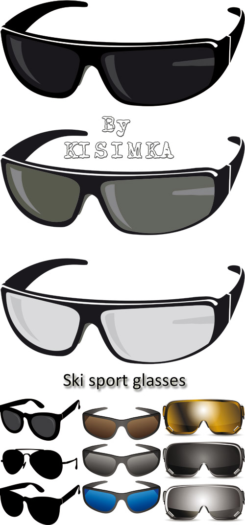 Stock: Illustration of ski sport glasses