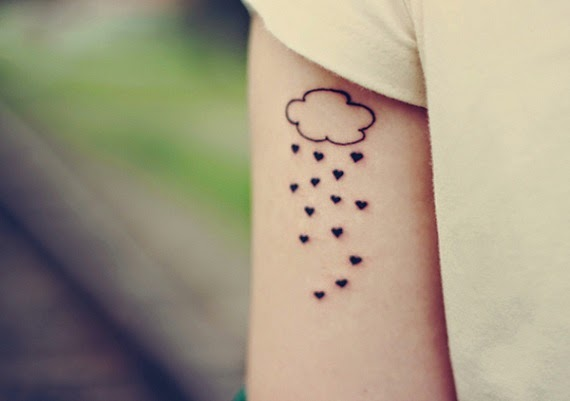 cute and small Cloud tattoos for girls