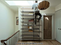 Tủ cầu thang 'cứu cánh' cho nhà nhỏ hẹp - Tủ âm tường gỗ
