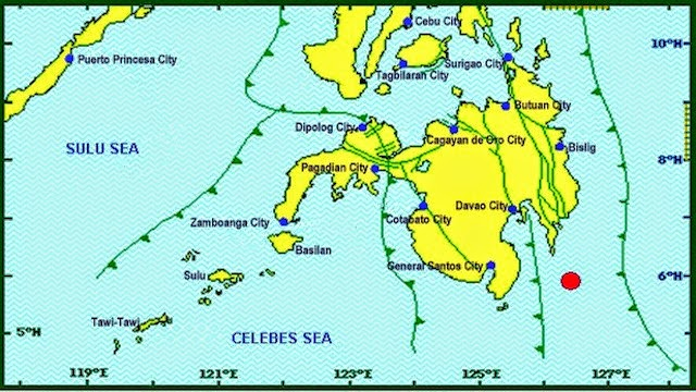 davao occidental, philippines hits by 6.1 earthquake