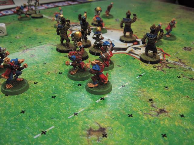 John's Skaven take to the turf against Daren's Undead.