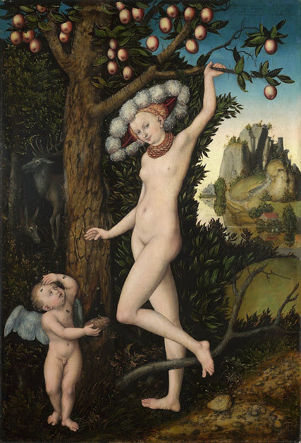 Lucas Cranach the Elder - Cupid complaining to Venus