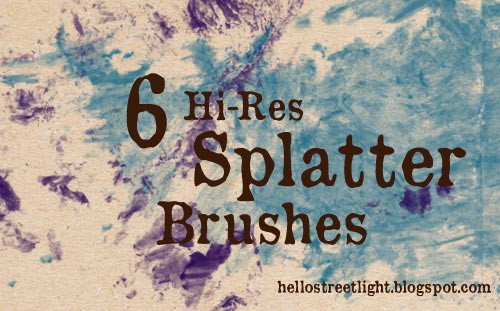 Free Hi-Res Splatter Brushes
