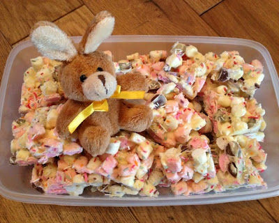 White Chocolate and Marshmallow and Mini Egg Easter Tray Bake