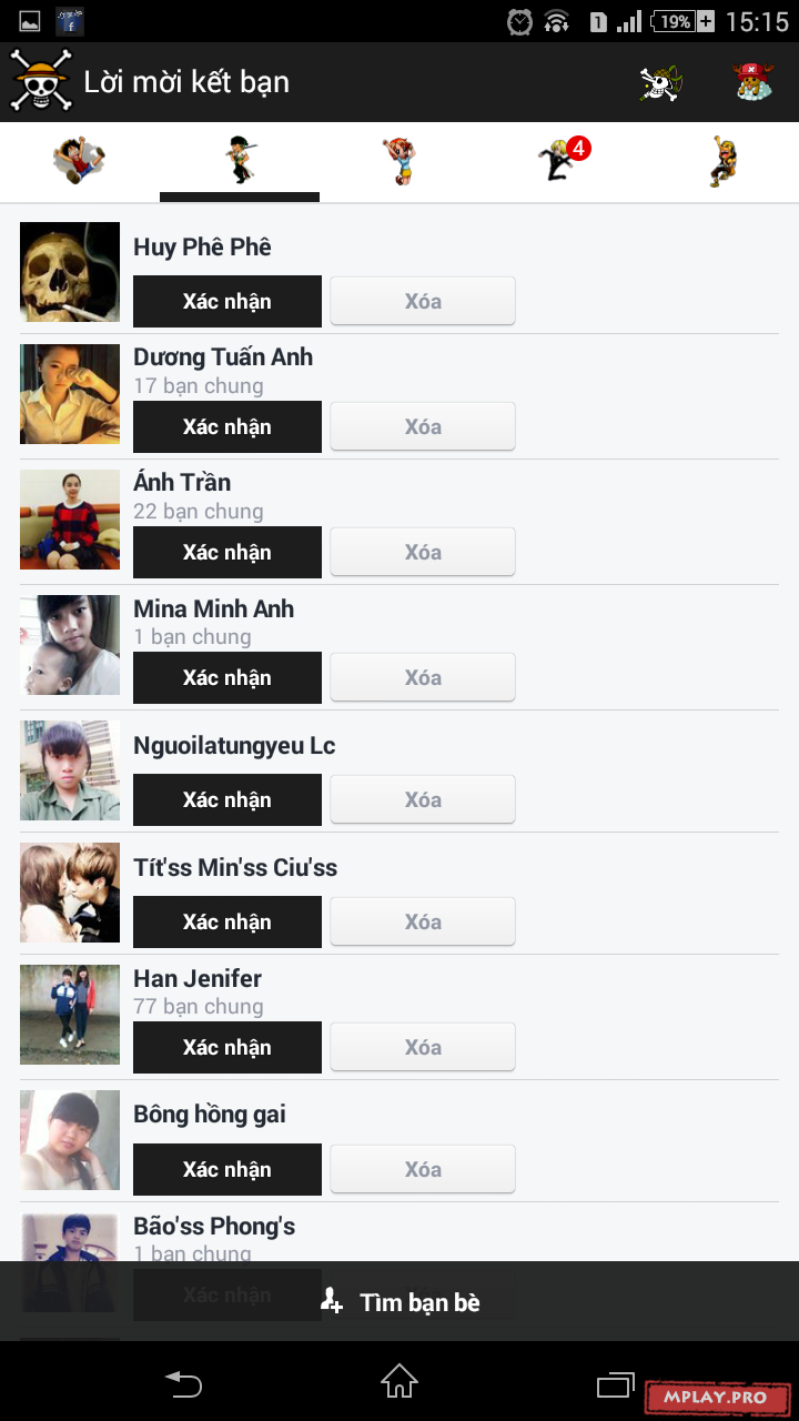 Facebook mod One Piece cho Android