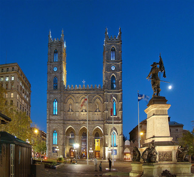 View of the Basilica at Montreal