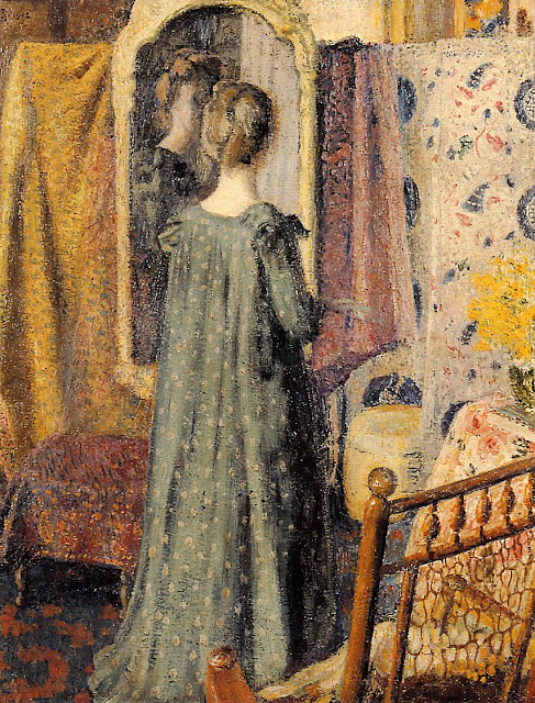 Georges Lemmen - Woman Standing in Front of the Mirror (Madame Georges Lemmen)