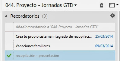 Evernote - Recordatorios