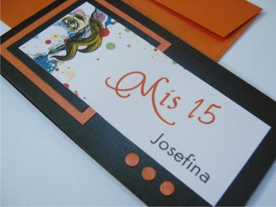 Invitación para quinceañera naranja