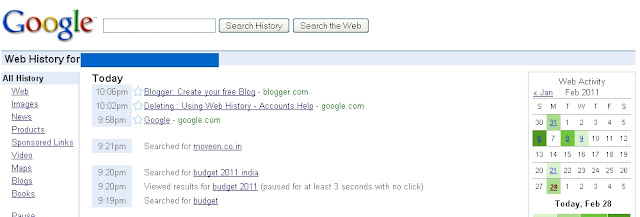 How to See Google Web Search History 1