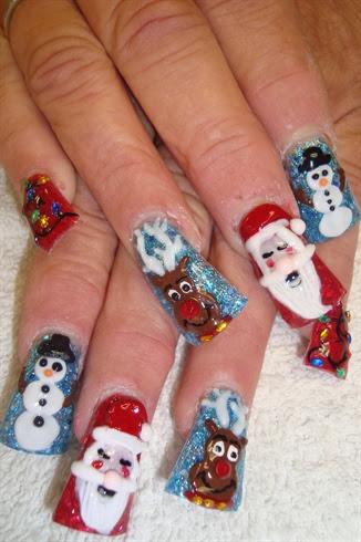 crismas nails