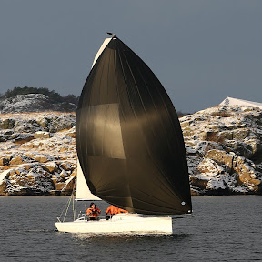 J70 sailing in Marstrand, Sweden