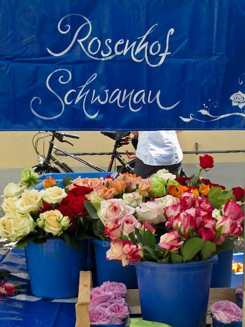 Rosen auf dem Markt