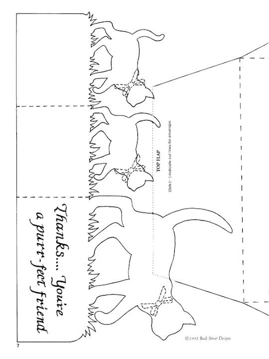 Дата знакомства, кошка шаблон объемной открытки