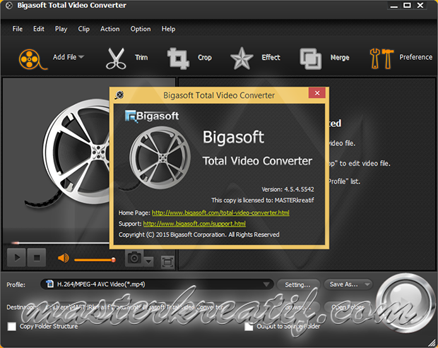 bigasoft ipad video converter serial