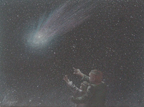 Comet View Pastel - Original Painting