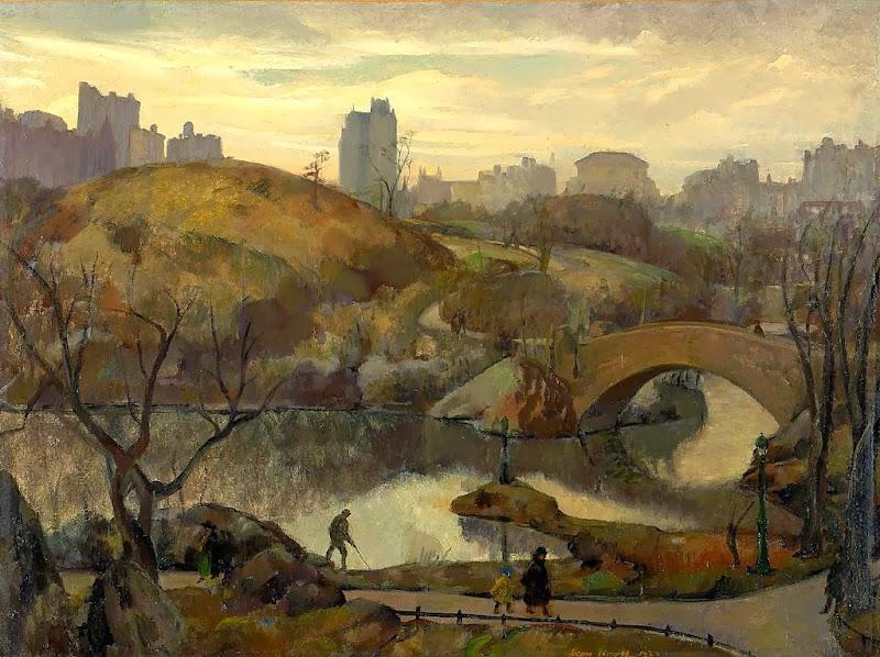 Leon Kroll - Scene in Central Park, 1922
