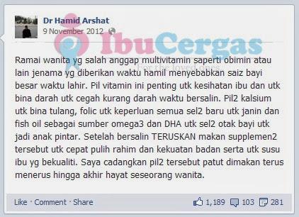 {focus_keyword} Perlu Ke Makan Vitamin dan Supplement? Dr Hamid Arshat   Set Bersalin Shaklee Terbaik 2