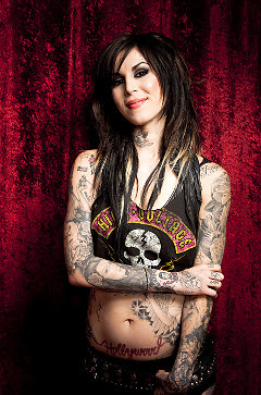 beautiful tattoo artist kat von d