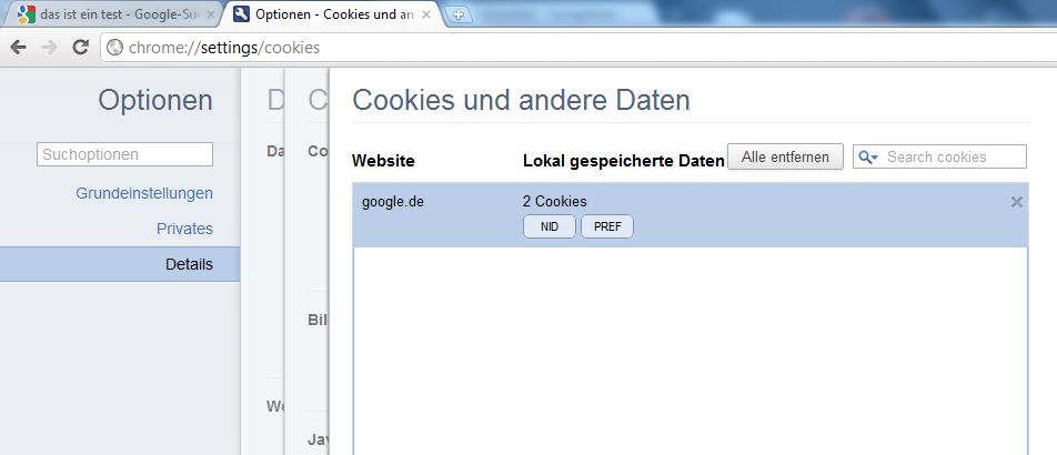 wie aktiviere ich cookies bei google