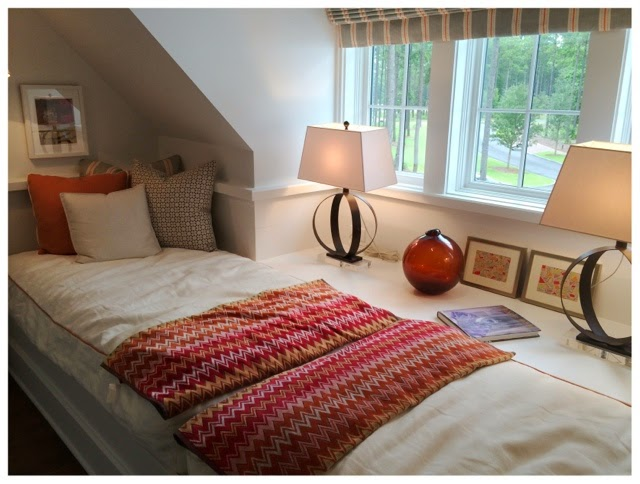 Bright bunk room.  2014 Southern Living Idea House in Palmetto Bluff, SC | The Lowcountry Lady