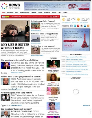 Pic of News Ltd Website - 14 Aug 2013
