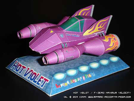 FZero Maximum Velocity Hot Violet Papercraft