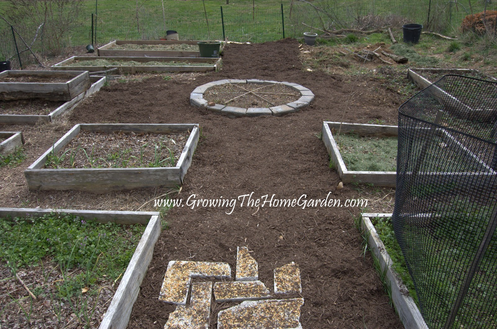 Preparing The Vegetable Garden In Spring