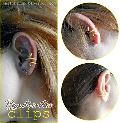 Cómo hacer pendientes con clips.