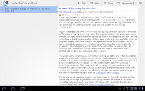 Google Reader Android 3.1