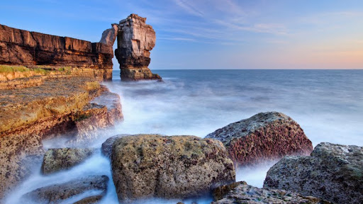 Pulpit Rock at Sunset, Isle of Portland, Devon, England.jpg