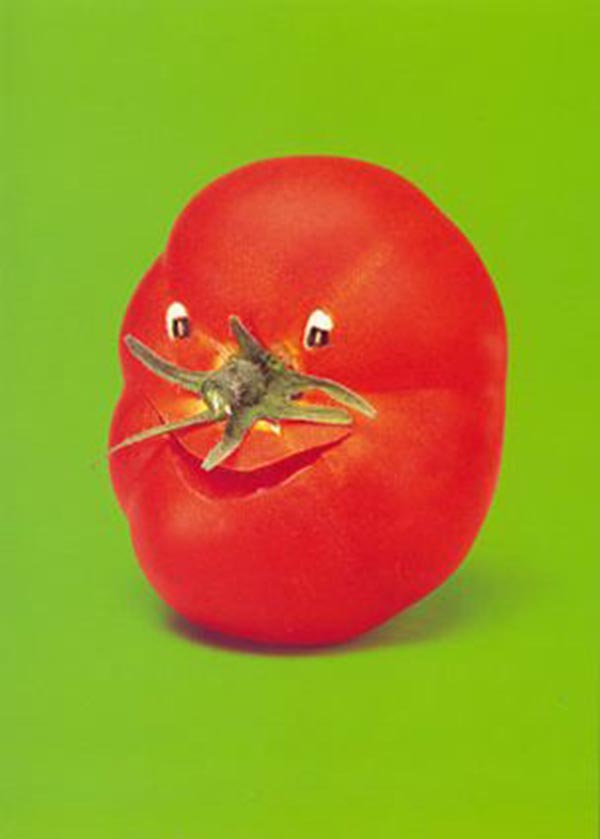 Food Art - Tomato Face