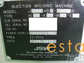 JSW J550AD-460H US (2012) High Speed Plastic Injection Moulding Machine