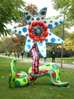 Yayoi Kusama sculpture at the Frieze Art Fair