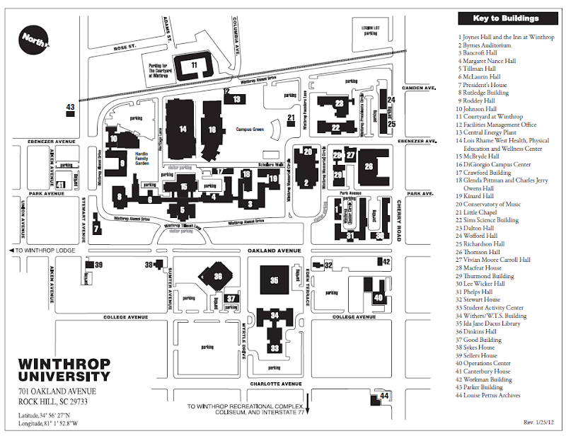 Winthrop University Parking Map