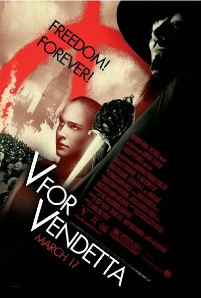 Poster Of V for Vendetta (2005) Full Movie Hindi Dubbed Free Download Watch Online At Alldownloads4u.Com